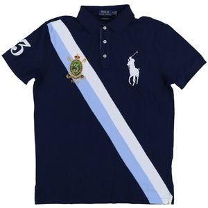 Custom Slim Fit Big Pony Gold Crest Polo Shirt #3